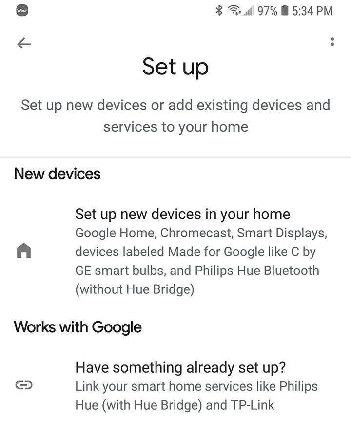 Google Home Setup New Device