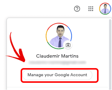 Google Manage Account