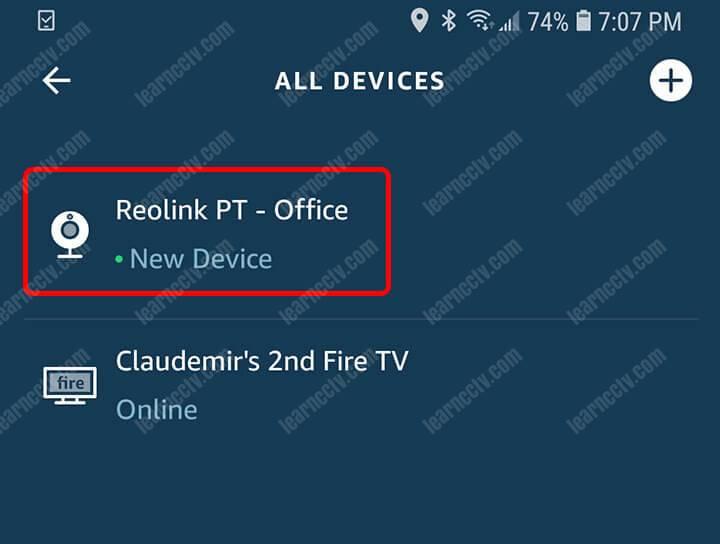 Reolink Argus PT Camera Added to Alexa