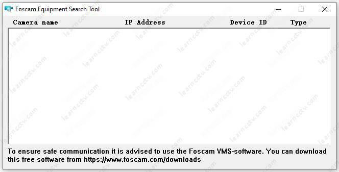Foscam Equipment Seach Tool Ready