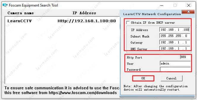 Foscam IP camera tool