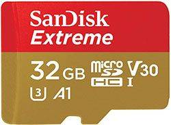 Sandisk Extreme 32GB MicroSD card