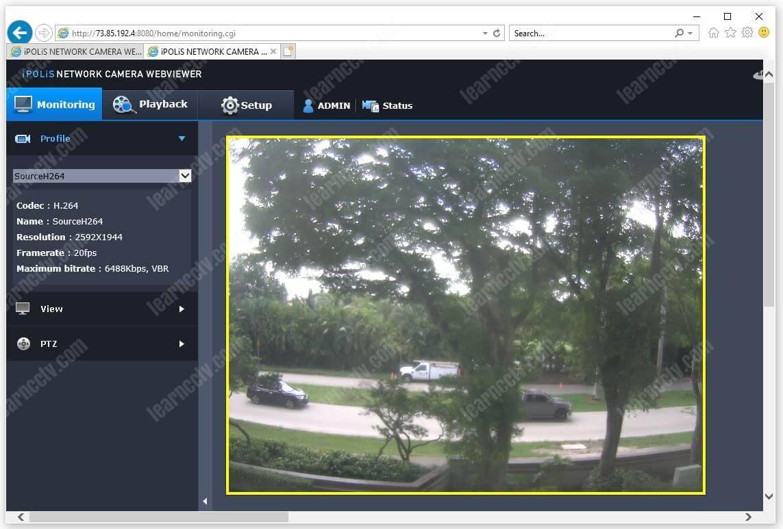 Wisenet Access Via Web Browser OK