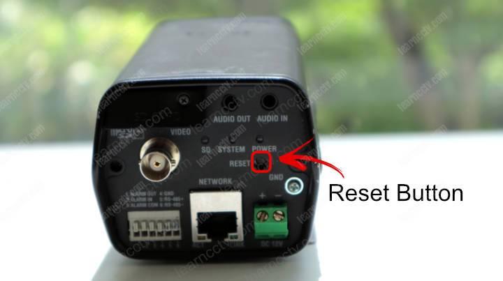 Wisenet Box Camera Reset Button