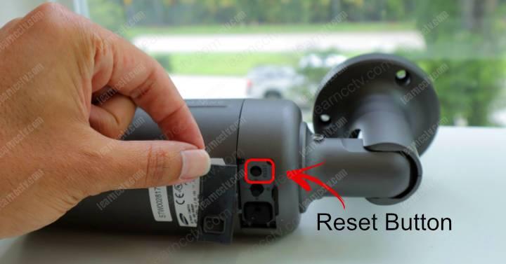Wisenet Bullet Camera Reset Button