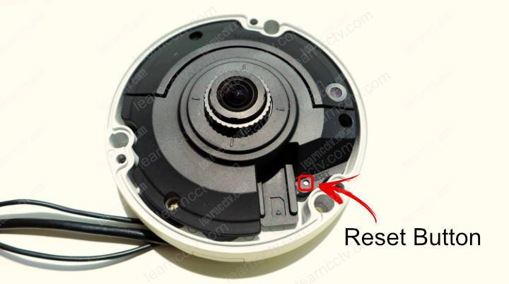 Wisenet Fish Eye Camera Reset Button