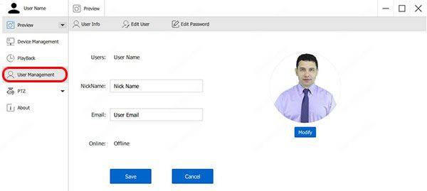 Zosi AVSS User Management