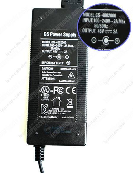 Zosi NVR Power Supply