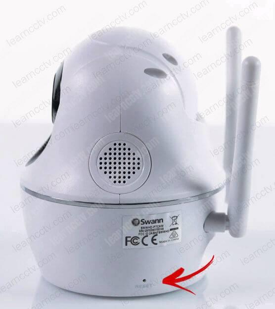 Swann Wi-Fi Camera SWWHD-PTCAM reset button