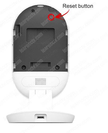 YI camera 2nd gen reset button