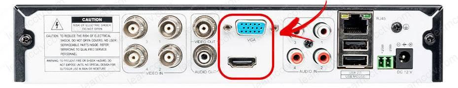 Zosi DVR VGA and HDMI Output