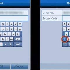 Hikvision virtual keyboard