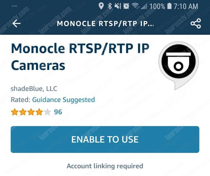 Alexa Skill Monocle Cho phép sử dụng