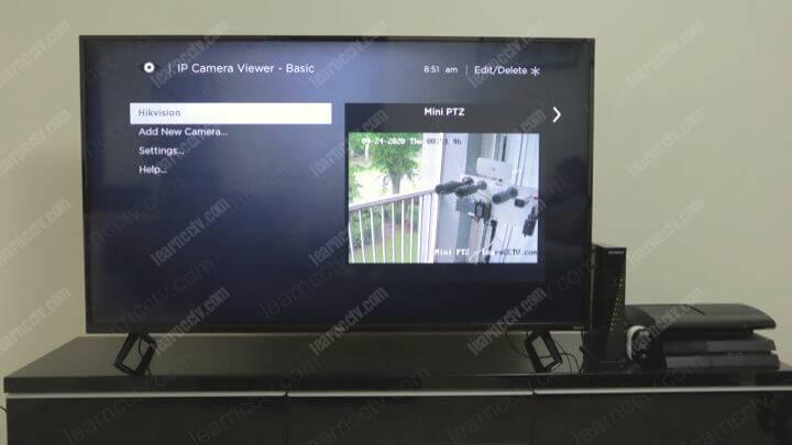 Hikvision Camera on a Roku TV