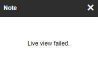 Hikvision Live View Failed Message