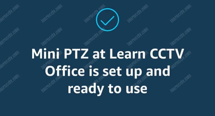Mini PTZ Hikvision sẵn sàng hoạt động với Alexa