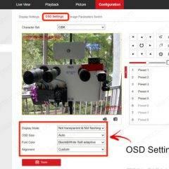 Hikvision OSD Settings