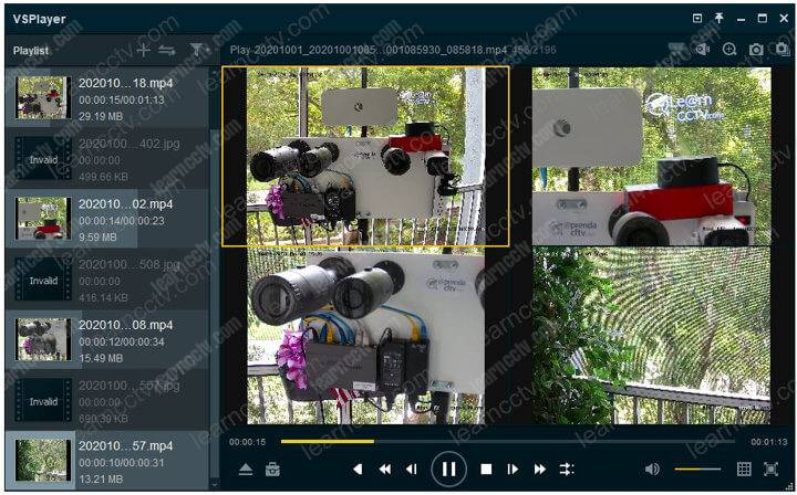 Hikvision VSPlayer Multiple videos