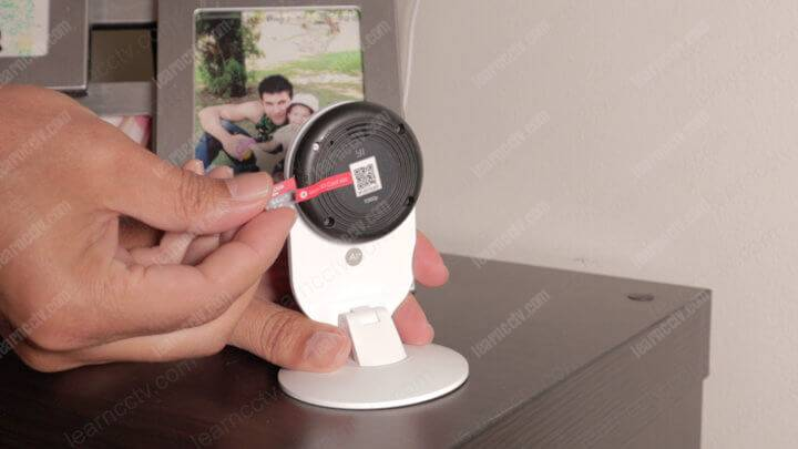 YI Home Camera Micro SD Card Installation