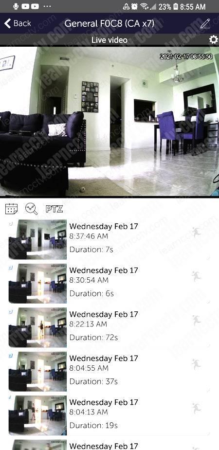 Videoloft App Camera Thumbnails