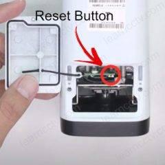 Amcrest IP camera reset button