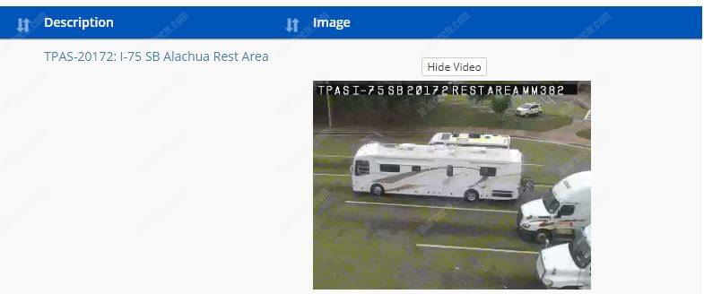 Public traffic camera in Florida