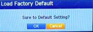 Samsung DVR reset message