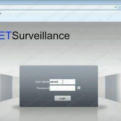 NetSurveillance DVR Web Interface identification