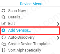Add device to PRTG