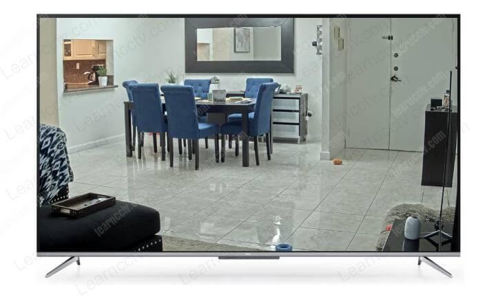 Analog security camera on TV