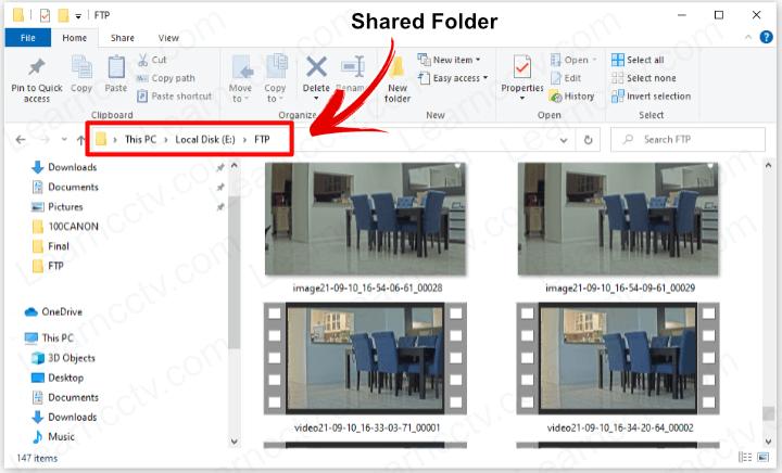 FTP Sever shared folder