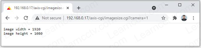 VAPIX get camera resolution